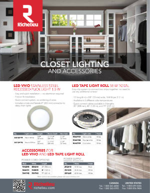 Closet lighting and accessories