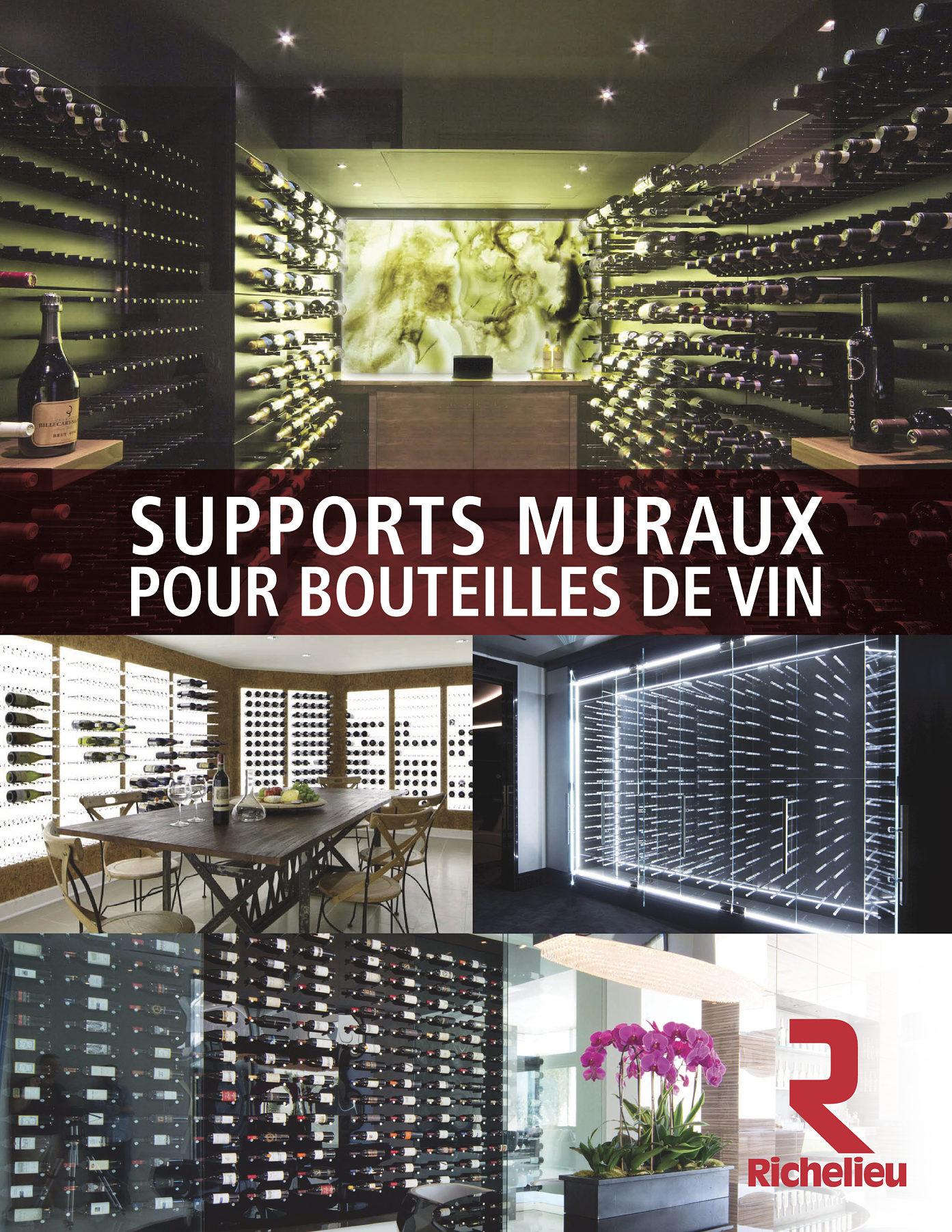 librairie des catalogues richelieu supports muraux pour bouteilles de vin page 1. Black Bedroom Furniture Sets. Home Design Ideas
