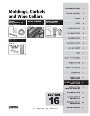 Molding, Corbels and Wine Cellars
