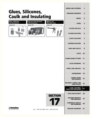 Glues, Silicones, Caulk and Insulating
