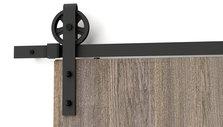Quincaillerie de style porte de grange rustique pour - Rail porte coulissante grange ...