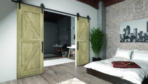 Portes Coulissantes Intérieures De Style Rustique. Porte De Grange Sur  Mesure