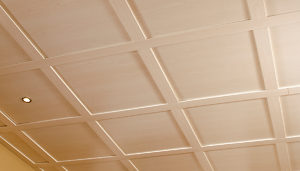Ceiling Tiles, Faux Beams and Medallions