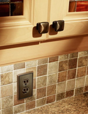 Contemporary Switch plate for two Receptacles