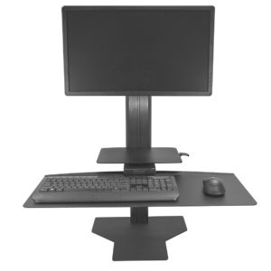 Black Workstation for One Monitor
