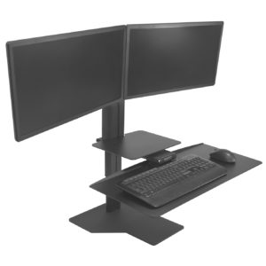 Black Workstation for Two Monitors