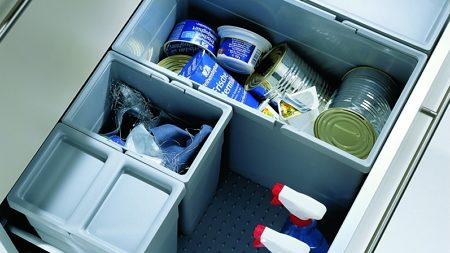 Recycling centers for drawers