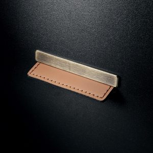Contemporary Leather and Metal Recessed Pull - MN2466Z