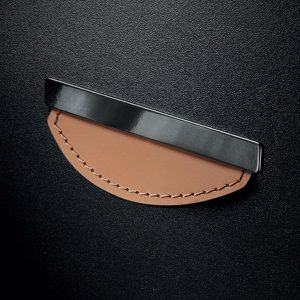 Contemporary Leather and Metal Recessed Pull - MN2467Z