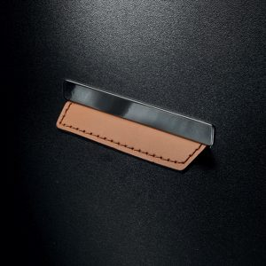Contemporary Leather and Metal Recessed Pull - MN2426Z