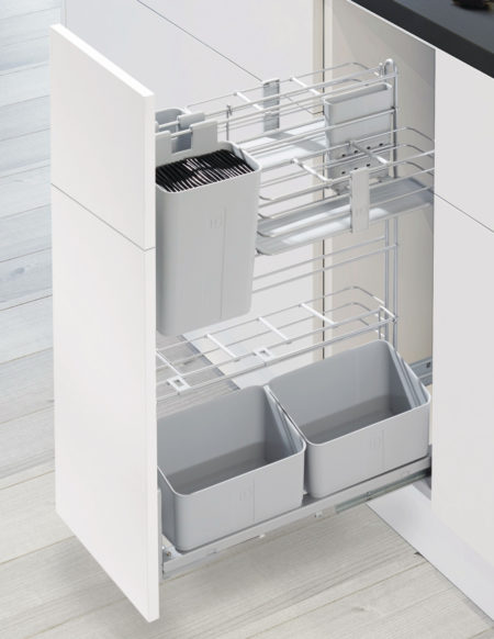COOKO - Pull-Out Base Cabinet Cooking Caddy