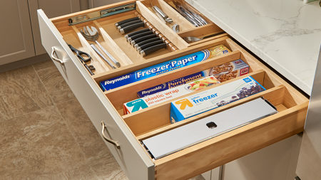 Tiered Drawers for Frameless Cabinets