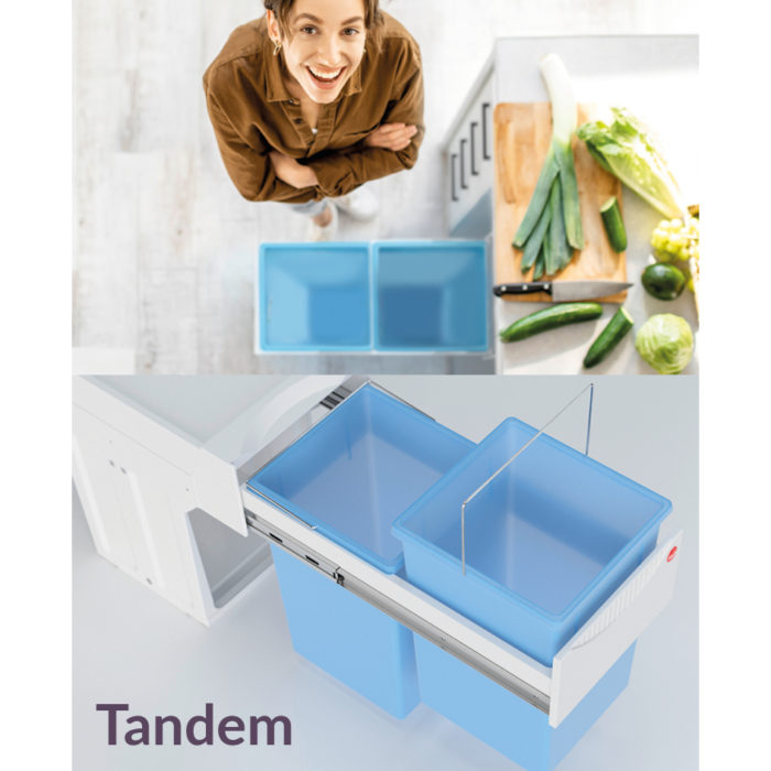 Antibacterial pull-out waste bins