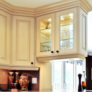 Residential interior cabinet lighting - accent